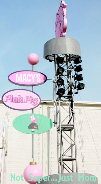Macy's Pink Pig sign