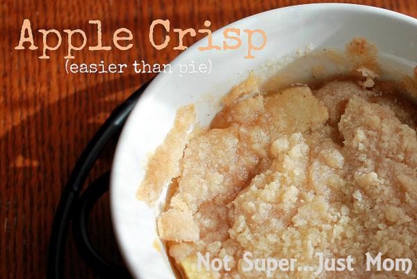Apple Crisp recipe from Not Super...Just Mom