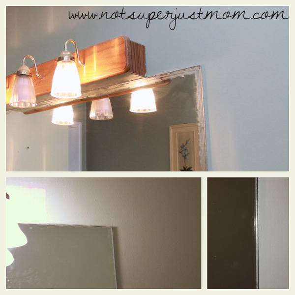 How to Mosaic Tile a Mirror DIY 3, from Not Super Just Mom