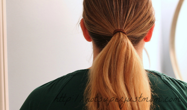 low tucked bun everyday hairstyle