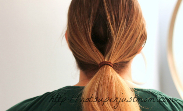 low tucked bun everyday hairstyle, super easy