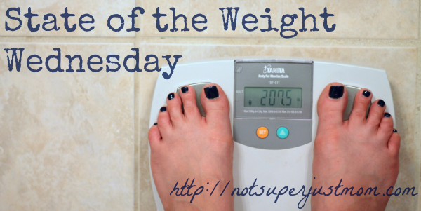 State of the Weight Wednesday, Not Super Just Mom