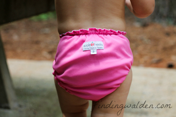 AppleCheeks swim diaper review, Finding Walden