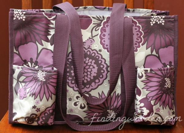 Thirty-one Gifts Organizing Utitlity Tote, Plum Awesome Blossom
