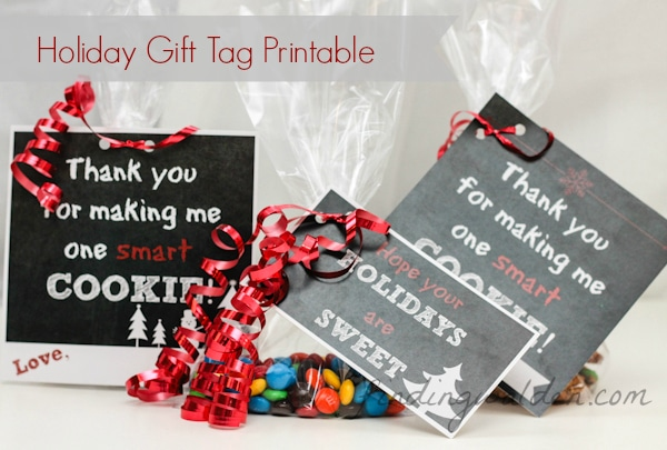 FREE Holiday Gift Tag Printable for Cookies and Treats
