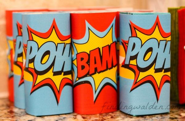 Super Hero Juice Box Labels