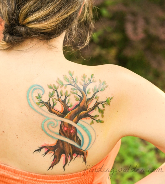 Tree tattoo, ee cummings, i carry your heart