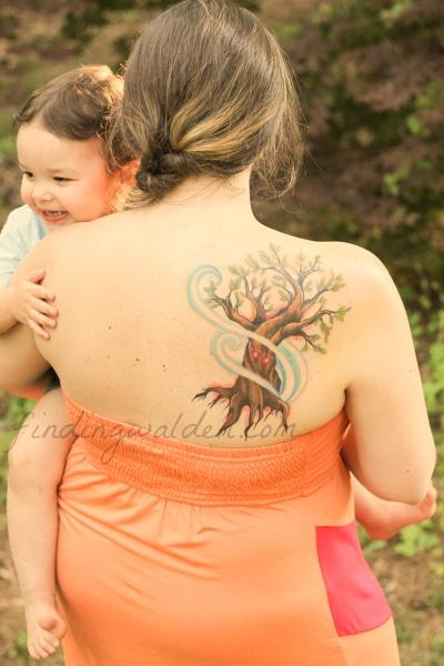 tree tattoo, ee cummings, i carry your heart, mystic owl tattoo