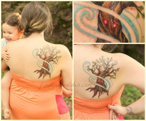 tree tattoo, ee cummings, i carry your heart, mystic owl tattoo