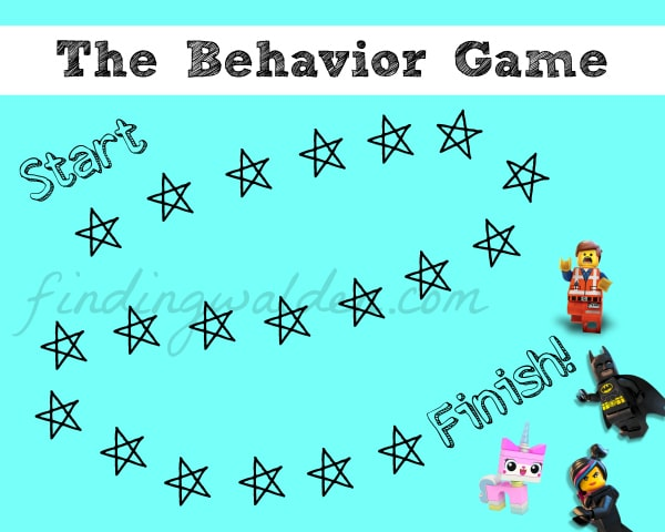 Lego Behavior Chart, Finding Walden