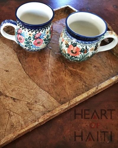 Tobacco Leaf Tray Heart of Haiti